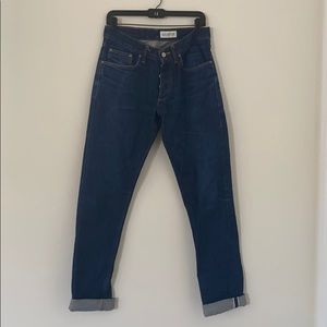 Gustin Button Fly Slim Jeans